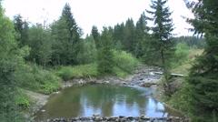 Mountain stream 1, Slovakia in the Orava region Stock Footage