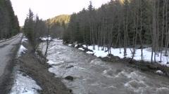 Mountain stream 3, Slovakia in the Orava region Stock Footage