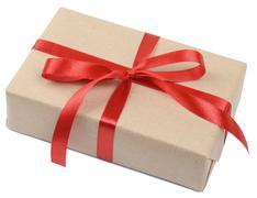 gift parcel box - stock photo