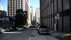 Downtown street in San Francisco Stock Footage