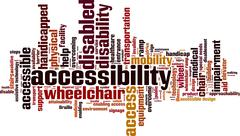 Accessibility word cloud Stock Illustration