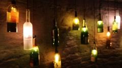 Dusty Wine Bottles Stock Footage
