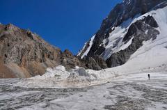 Trek in kyrgyzstan Stock Photos