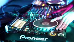 Pioneer DJ Set Static Shot Stock Footage