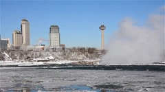 Niagara Falls River winter 04osvv Stock Footage