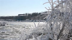 Niagara Falls River winter 17osvv Stock Footage