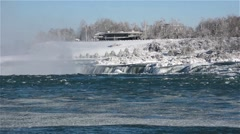 Niagara Falls River winter 18osvv Stock Footage