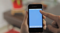 Iphone Blue Screen Shot Stock Footage