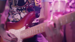 Guitar In Live Action on Stage Stock Footage