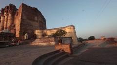 Mehrangarh Fort, located in Jodhpur, Rajasthan Stock Footage