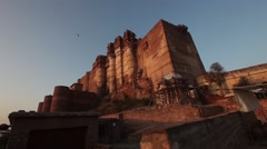 A candid view of Mehrangarh Fort, located in Jodhpur, Rajasthan Stock Footage
