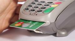 Credit Card Terminal Stock Footage