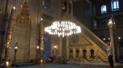 Sultan Ahmet Mosque Inside Stock Footage
