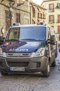 Car SUV Toledo, Spain. - stock photo