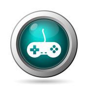 Gamepad icon. internet button on white background.. Stock Illustration