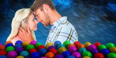 Composite image of attractive couple smiling at each other Stock Illustration