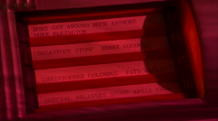 Vintage jukebox-wurlitzer-song list flips Stock Footage