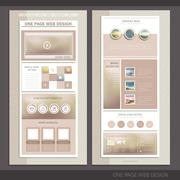 simplicity one page website template design - stock illustration