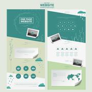 Graceful one page website design template Stock Illustration