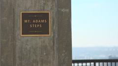 City of Cincinnati seen from Mount Adams Stock Footage