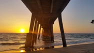 Stock Video Footage of Jetty Sunset over ocean South Australia