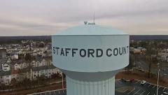 Stafford County Water Tower Stock Footage