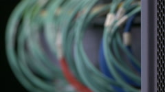 Close-up of cables for data transmission Stock Footage