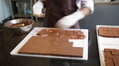 Stock Video Footage of Chocolate Factory - Production - Handmade Chocolates