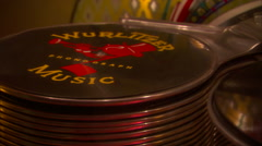 Vintage jukebox-wurlitzer-78rpm record plays-zoom Stock Footage