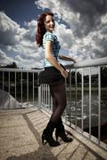 Young woman possing - stock photo