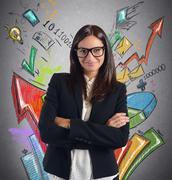 Stats businesswoman Stock Photos