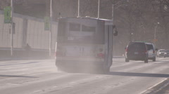 Dusty urban city streets of Toronto Stock Footage