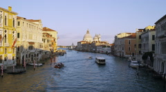 Boats Driving Down the Grand Canal in Venice Italy 4K Stock Video Footage - stock footage