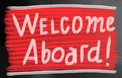 Welcome aboard concept Stock Photos