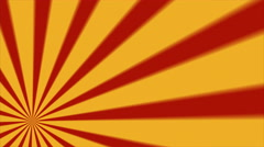 Retro Abstract Sunburst Background Loop Red Yellow Lower Left Blur - stock footage