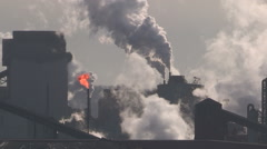 Stock Video Footage of Smoke stacks climate change emissions pollution air quality global warming