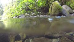 water surface in mountain stream - stock footage