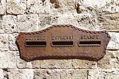 Bronze shield mailbox Stock Photos