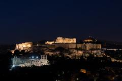 The Acropolis of Athens Stock Photos