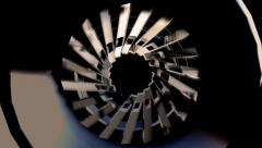 Blades rotor of Turbine Stock Footage