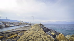 Harbour in Kyrenia city (Girne), Cyprus Stock Footage
