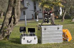 Drone and tools Stock Photos