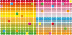 color rectangles - stock illustration