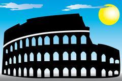 Rome coliseum Stock Illustration