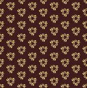 Floral Seamless Vector Golden Pattern. Orient Abstract Background Stock Illustration