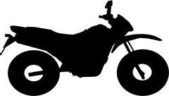 motocross bike - stock illustration
