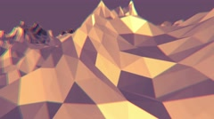 Abstract polygonal shimmering background Stock Footage