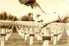 Children walk hand in hand for peace world war 1 Stock Photos