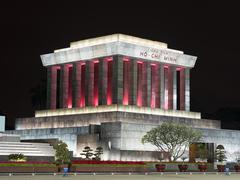 Ho Chi Min Mausoleum in Hanoi, Vietnam Kuvituskuvat