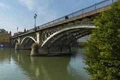 triana bridge - stock photo